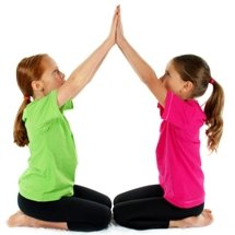 pair work in a Yoga for Kids class